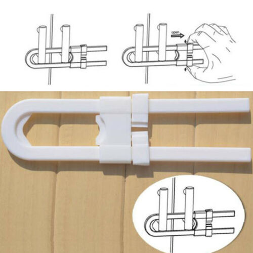 Kids Baby Safety Lock U Shape Security For Cabinet Children Cupboard Door Drawer