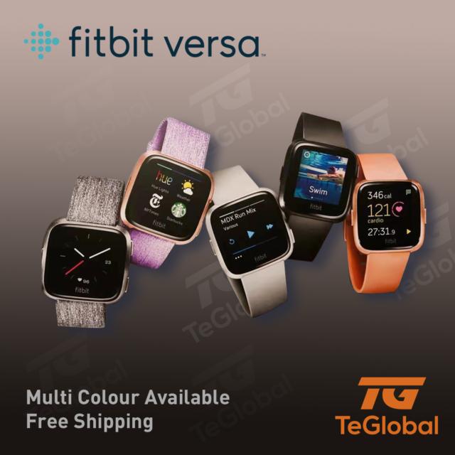 Original Fitbit Versa Smart Watch Fitness Activity Tracker New Multicoloured AU