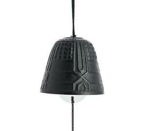 FURIN-Mini-cloche-a-vent-metal-NOIRE-Made-in-Japan
