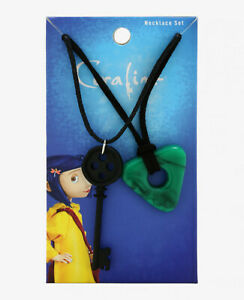 CORALINE-KEY-amp-SEEING-STONE-PENDANT-NECKLACE-SET-Laika-Officially-Licensed