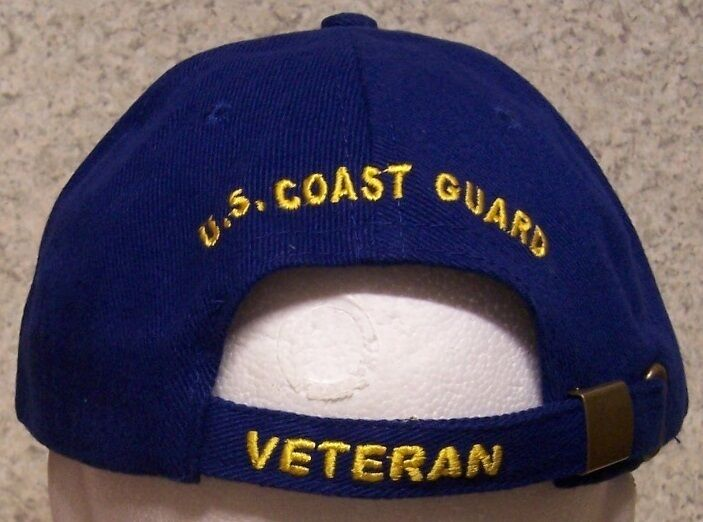 Embroidered Military Baseball Cap Military Embroidered Coast Guard Veteran NEW 1 hat size fits all c576ba