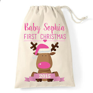 image is loading baby girl first christmas personalised christmas gift bag
