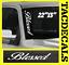 0034-Blessed-VERTICAL-Windshield-Vinyl-Side-Decal-Sticker-Car-Truck