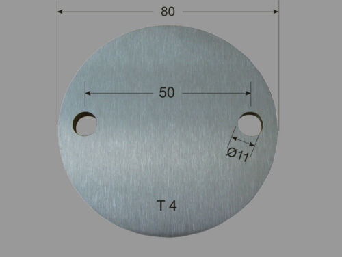 Edelstahl Ronde Ø 80x4 mm V2A  Platte Ronden Deckel Kappe Blech