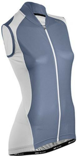 SUGOI RPM Jersey Womens Medium Cycling Top Sleeveless Full Zipper  bluee White  quality product