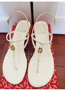 73409f41e NIB Authentic Tory Burch Emmy Demi Wedge Sandals in Bleach White ...