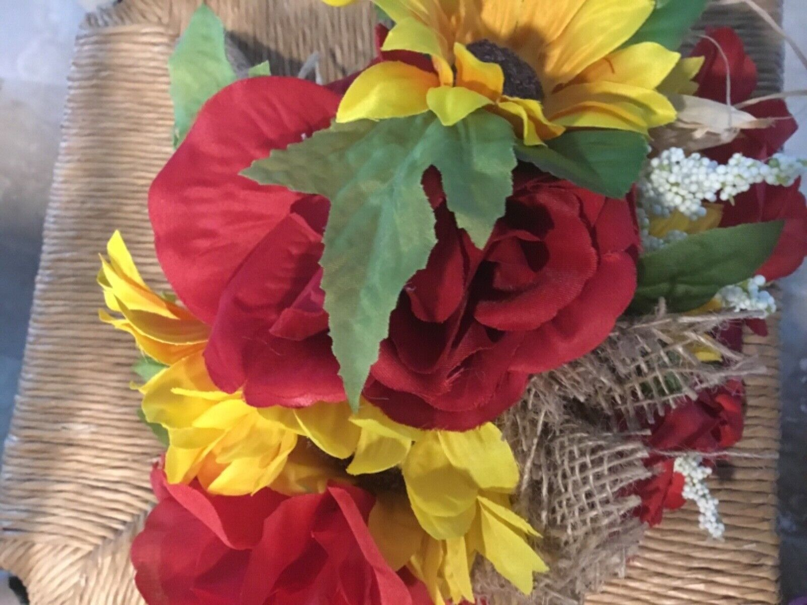 Wedding Flowers Bridal Bouquet Sunflowers Bridal Decorations Burgundy Red 8 Bouq Ebay