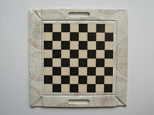 FREEFORM TABLE TRAY REVERSIBLE - CHESS BOARD / BACK GAMMON REVERSE FOLDS FLAT
