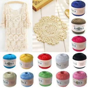 Cotton-Crochet-Cord-Thread-Hand-Knitting-Yarn-Sewing-Craft-DIY-Yarn-15-Colors