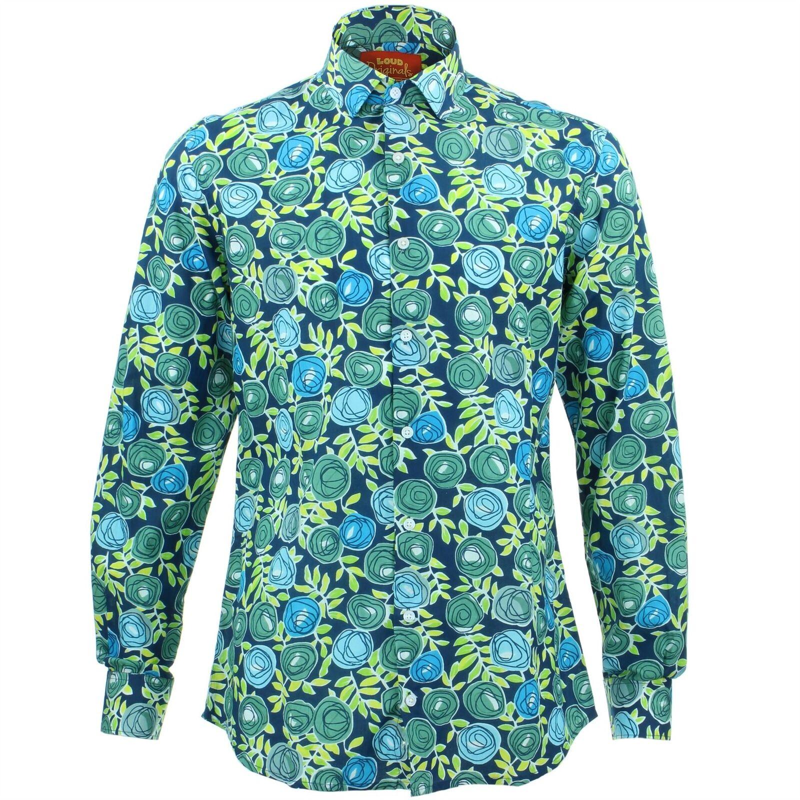Fit Fancy Bluee Loud Tailored Shirt Pinks Retro Originals Mens v0nmN8w