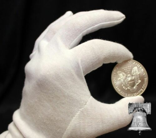 Inspection Gloves Comics Currency Coins HEAVY DUTY White Cotton MEDIUM 1x Pair