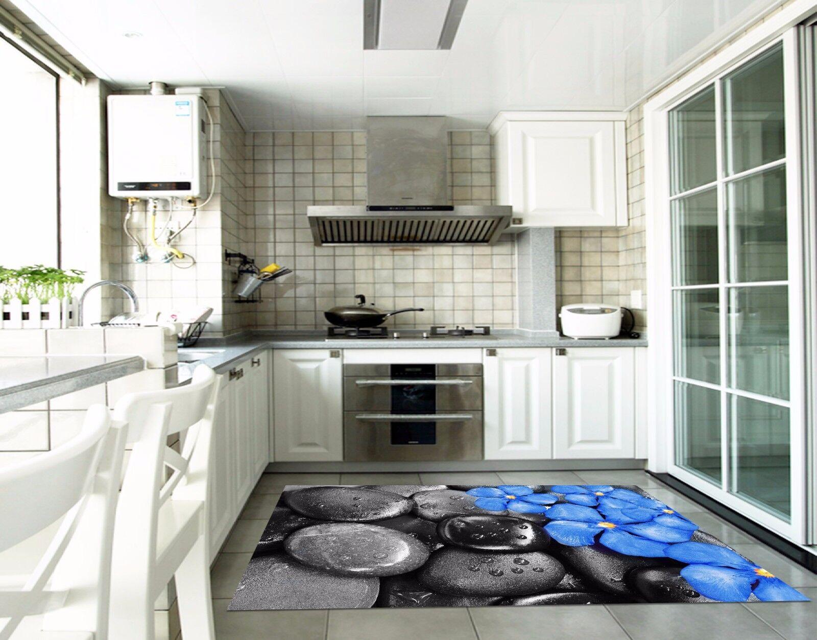 3D Flower Stone 75 Kitchen Mat Floor Murals Wall Print Wall AJ WALLPAPER AU Kyra