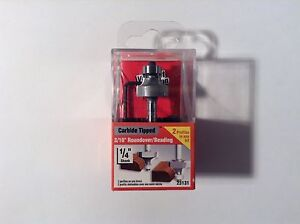 """Vermont American 23131 Carbide Tipped, 3/16"""" Roundover/Beading Router Bit"""