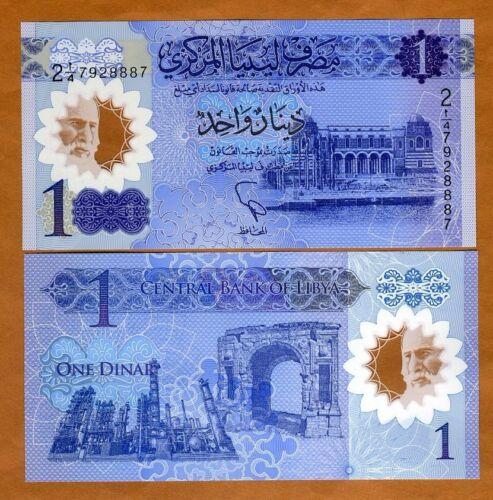 1 Dinar Libya UNC /> New Design Polymer P-New 2019