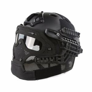 Tactical-Protective-Goggles-G4-System-Full-Face-Mask-Helmet-Airsoft-Paintball-BK