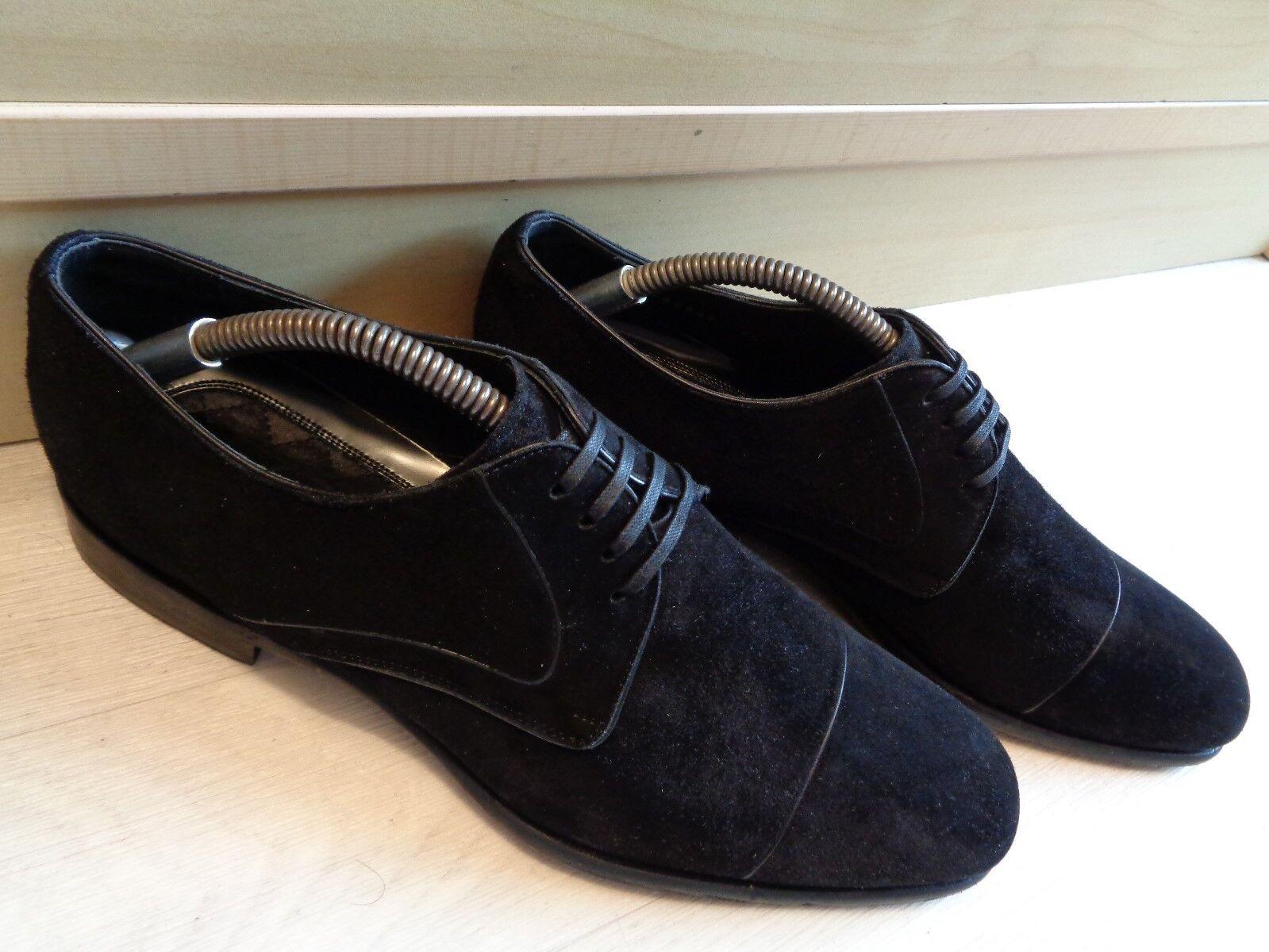 Dolce Dolce Dolce & Gabbana schwarz suede cap toe derby UK 7.5 41.5 mens business dress D&G c2cc8e