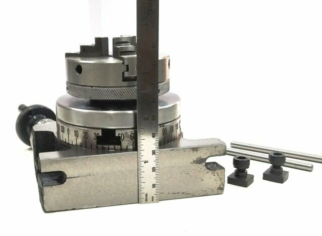 """65 MM SCROLL CHUCK BACKPLATE... ROTARY TABLE 4/"""" TILTING"""