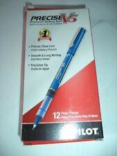 12 Pilot Precise V5 Blue Ink Pens 05mm Roller Ball 35335 072838353351