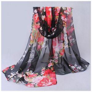 destockage foulard écharpe neuf 100/% mousseline de soie cachemire rose