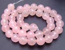 "SALE High quality 10mm Round Pink jade gemstone beads strands 15""-los374"