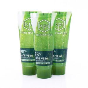 BULK-Aloe-Vera-98-Pure-Gel-3-PACK-Skin-Moisturizer-100ml-3-38oz-TUBE