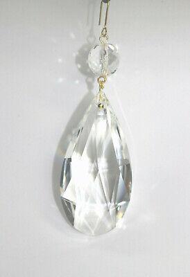 Dekoration Rieser Kristall 6 St/ück Glas Eiszapfen 63mm Octagon f/ür L/üster Kronleuchter