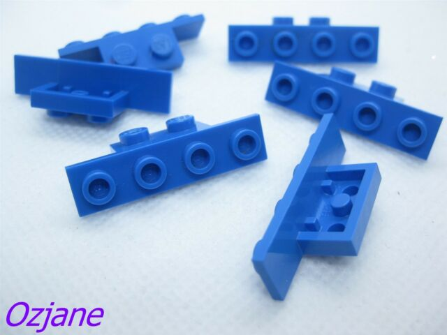 LEGO PART 2436 BLUE BRACKET 1  X 2-1  X 4 FOR 6 PIECES