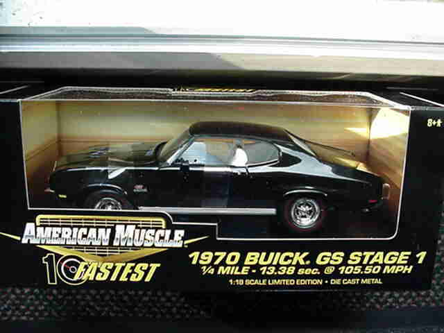 1 18 Ertl American Muscle 1970 Buick Gs Coupe Stage 1 Black 10