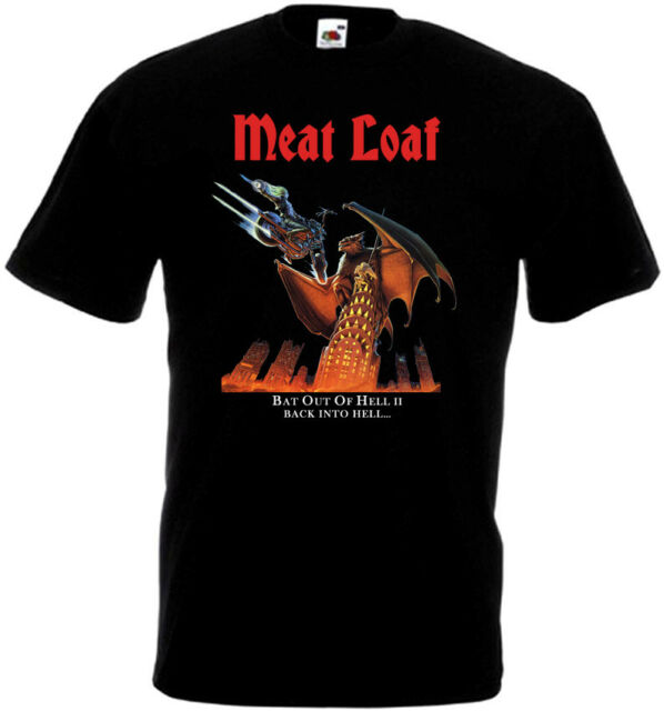 Meat Loaf Bat Out Of Hell 3 T-shirt black red graphite all sizes S...5XL