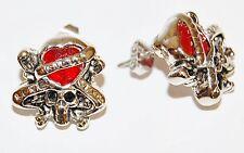 10 x Ed Hardy Jewellery 'Love Kills Slow' Ear Ring Studs Job Lot x10