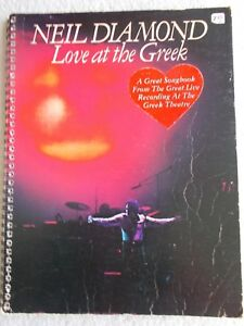 Details about Neil Diamond Love at Greek Songs Voice Piano Guitar Unmarked
