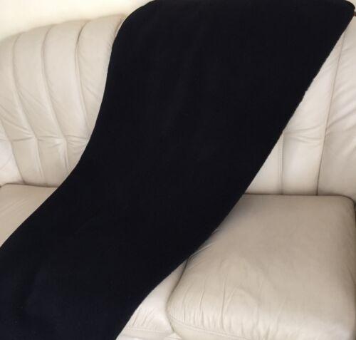 Wolldecke Campingdecke schwarz Tagesdecke 140x200 cm 100/% Wolle