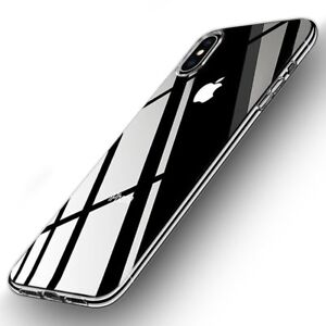 NEW iPhone X Hard Crystal Clear Transparent Slim Apple Case Frame Back Cover  765616311703