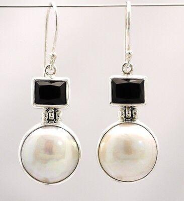 BaliBeauti Genuine Mabe Pearl and Semi-Precious Stone Dangle Earrings