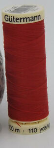 GUTERMANN-Sew-All-Thread-100-Polyester-100m-RED-156