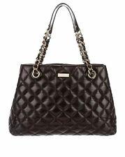 Kate Spade WKRU2563 Gold Coast Medium Serena Quilted Leather Bag Purse BLACK NWT