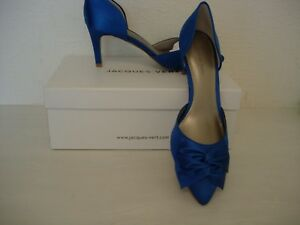 4db8e4a77b0 Image is loading JACQUES-VERT-PETITE-RIVIERA-SATIN-SHOES-MID-BLUE-