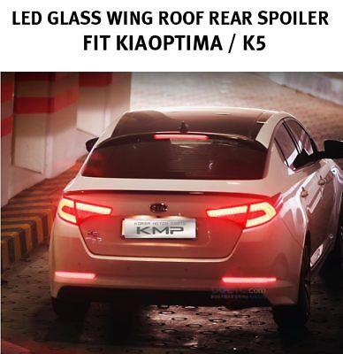 K5 LED GLASS Wing Rear Roof Spoiler For KIA 2011 2012 2013 2014 2015 Optima
