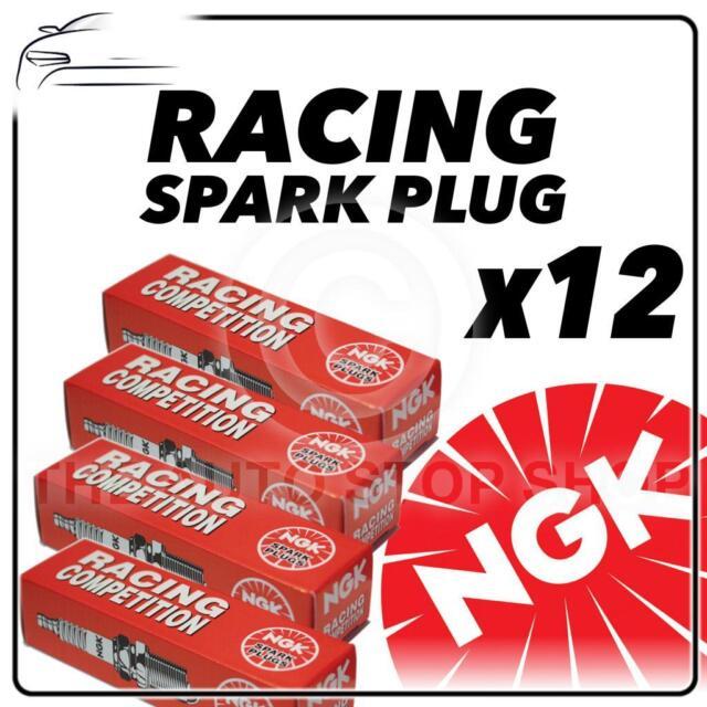 12x Ngk Racing bujías parte número r0409b-8 Stock no 7791 Original sparkplugs