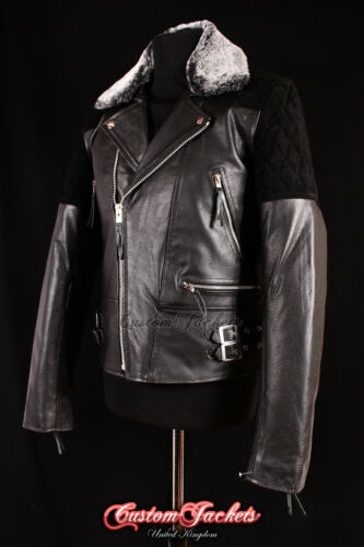 Giacca in Giacca nera da di da motociclista nera vacchetta da pelle pelle in uomo motociclista HwI40xHqr