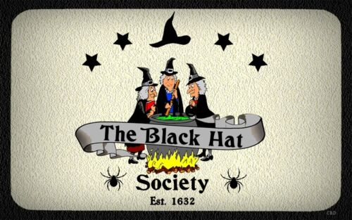 Black Hat Society WALL DECOR,COUNTRY,RUSTIC,PRIMITIVE,HARD WOOD,SIGN,PLAQUE