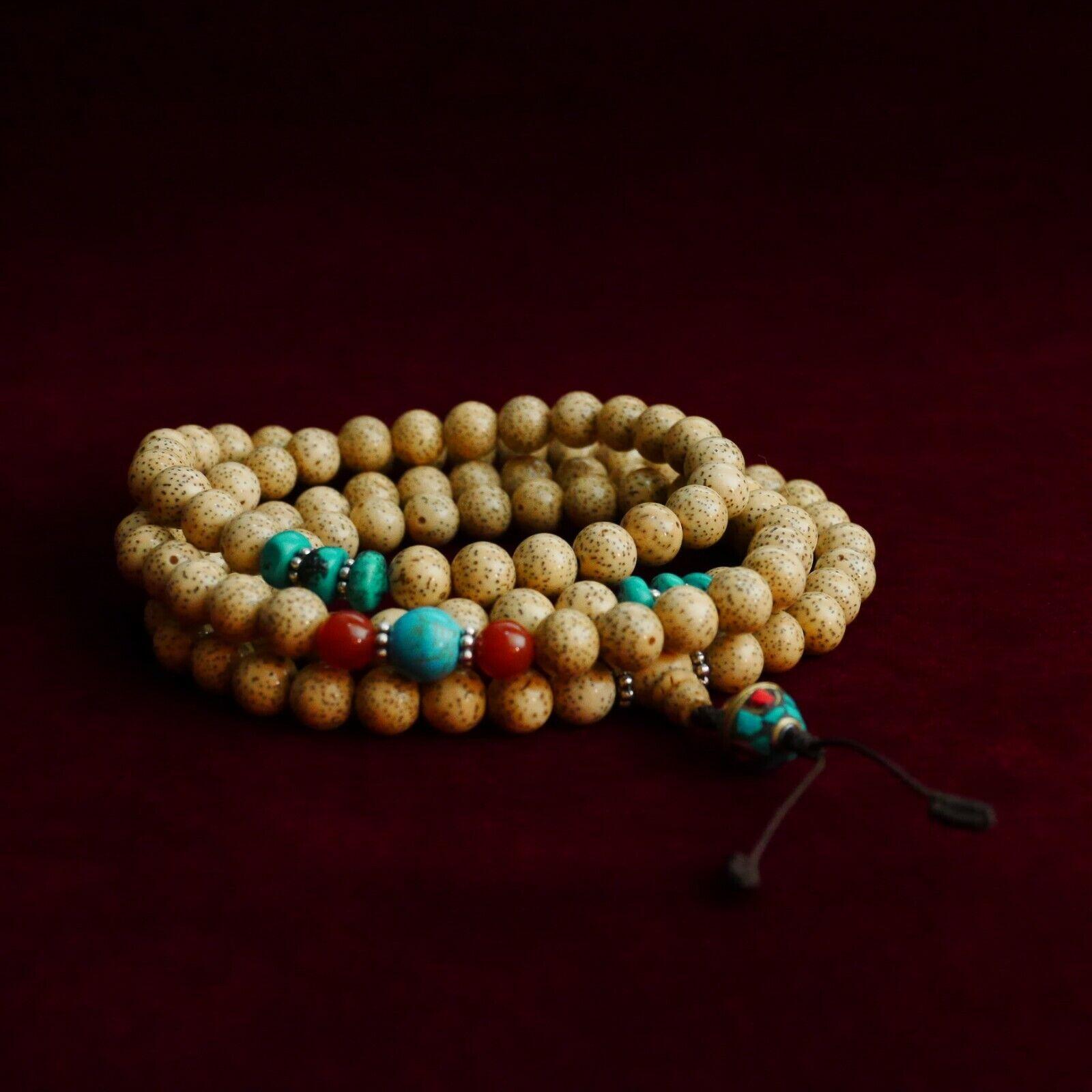 Graines de Lotus Mala (10 mm)   Grand Qualité   Tibet Bouddhisme Prière 7c