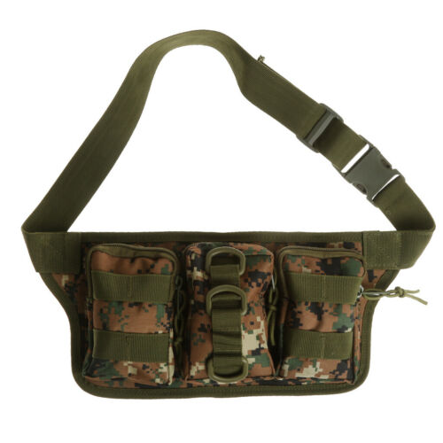 Tactical Waist Pack Molle Military Fanny Pack Waist Bag Outdoor Hiking Cycling
