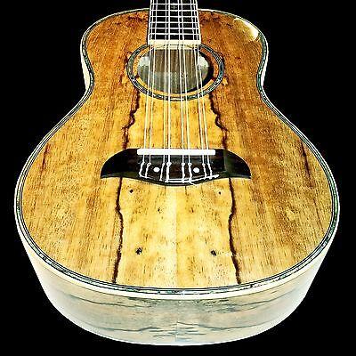 Oscar Schmidt 1778T Custom 8 String Tenor Ukulele Select Spalted Mango Veneer