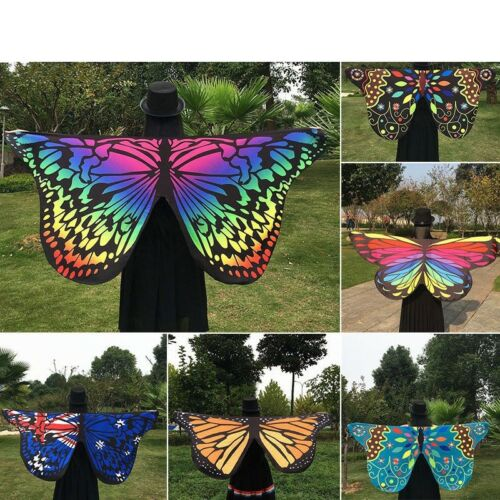 Women Wrap Shawl Cover Up Beautiful Butterfly Wing Towel Fancy Cape Scarf Gift