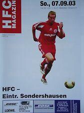 Programm 2003/04 HFC Hallescher FC - Sonderhausen