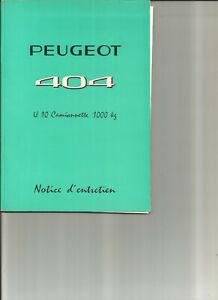 PEUGEOT-404-U-10-CAMIONNETTE-1973-notice-entretien-manuel-conducteur-carnet