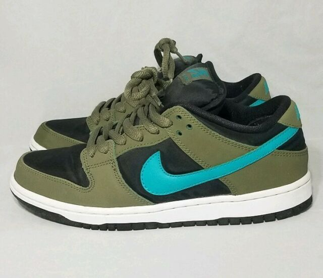 newest 0bf1a 82e92 Nike SB Dunk Low Pro Mens Size 6.5 Medium Olive Turbo Green