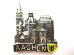 Aachen-Dom-Kirche-Magnet-Metall-Souvenir-Germany-Deutschland-Neu