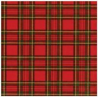 Caspari Royal Plaid Foil Continuous Gift Wrapping Paper Roll, 8-feet